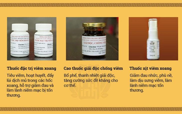 Tác dụng bài thuốc chữa viêm xoang, viêm mũi dị ứng dòng họ Đỗ Minh