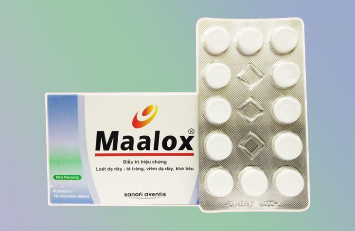 Hình ảnh thuốc viêm loét dạ dày tá tràng Maalox