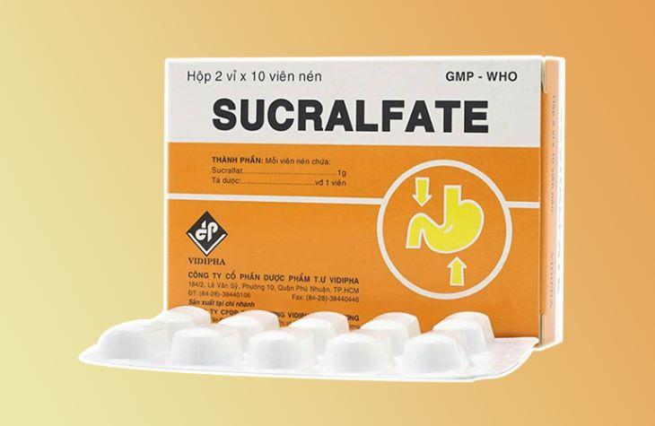 Sucralfate là một trong những loại thuốc giúp tạo màng bọc bảo vệ vết loét dạ dày hiệu quả