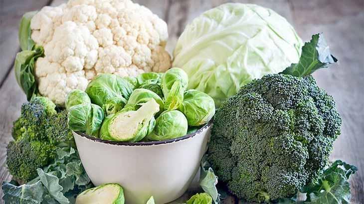 Rau họ cải chứa nhiều chất xơ và vitamin có lợi trong điều trị viêm da cơ địa