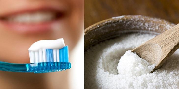 Trị mụn ẩn bằng kem đánh răng và muối