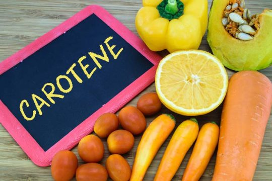 Beta-carotene có nhiều lợi ích cho sức khỏe tổng thể