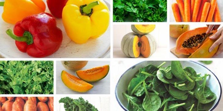 Bổ sung nhiều rau củ giúp cung cấp chất xơ, vitamin tốt cho da