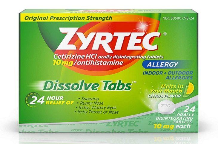 Zyrtec là một trong những giải đáp cho thắc mắc viêm mũi dị ứng ở trẻ dùng thuốc gì hiệu quả