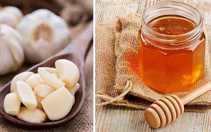 Kết hợp mật ong và tỏi trong bài thuốc điều trị