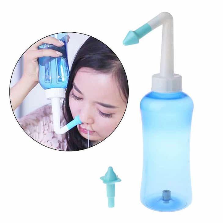 Rửa mũi xoang hàng ngày với nước muối sinh lý