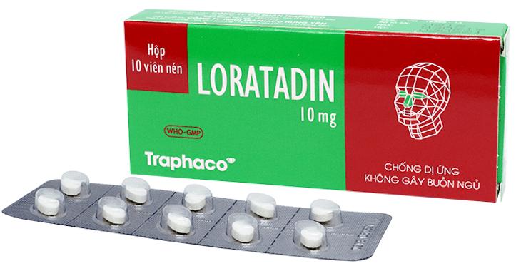 Thuốc Loratadin 10mg dành cho người bị dị ứng