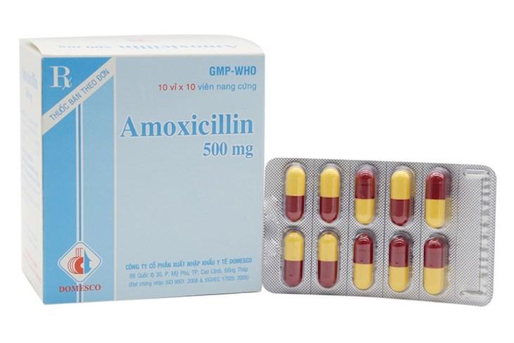 Viêm xoang trán uống thuốc gì nhanh khỏi - Viên uống Amoxicillin 500mg
