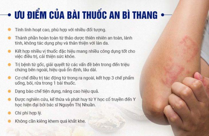 Những ưu điểm của bài thuốc An Bì Thang đặc trị viêm da dầu