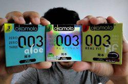 Bao cao su Okamoto 003 Real Fit của Nhật