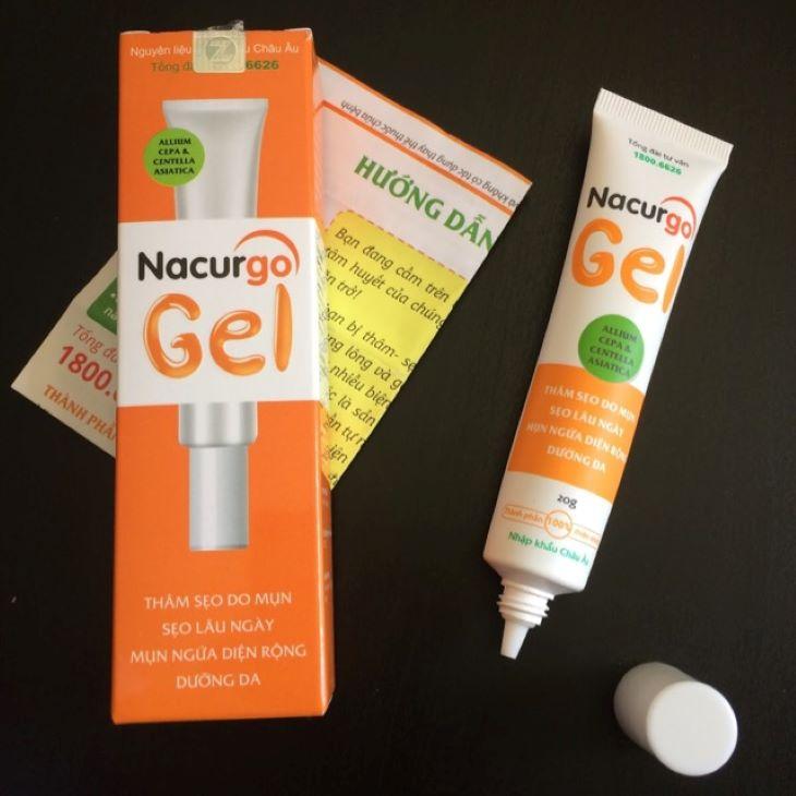 Hình ảnh gel trị mụn Nacurgo