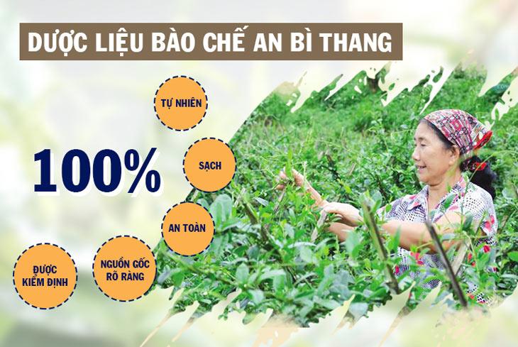 Nguồn dược liệu bào chế An Bì Thang được thu hái trực tiếp từ vườn dược liệu đạt chuẩn, an toàn, sạch
