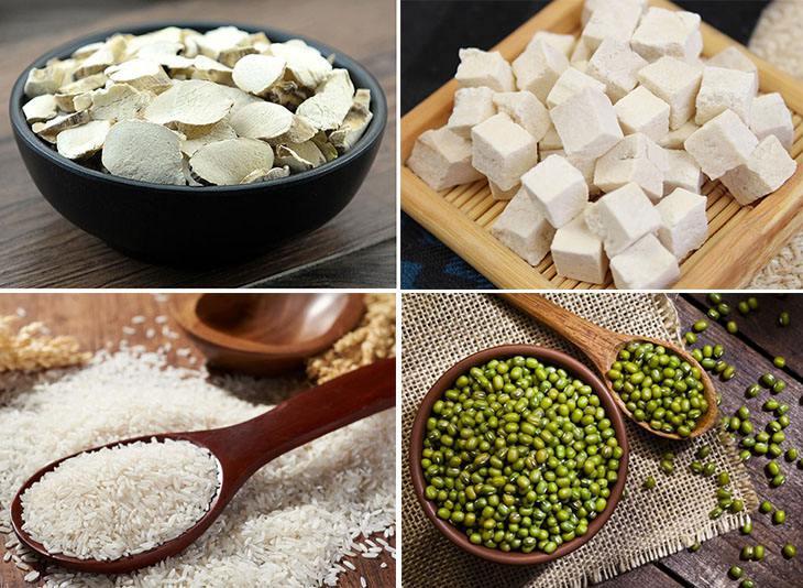 Hoài sơn, bạch phục linh, đậu xanh, gạo tẻ là bài thuốc Đông y trị nám tàn nhang hiệu quả