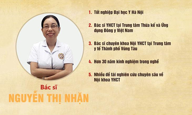 Bác sĩ Nguyễn Thị Nhặn - Trưởng khoa Da liễu Trung tâm Da liễu Đông y Việt Nam