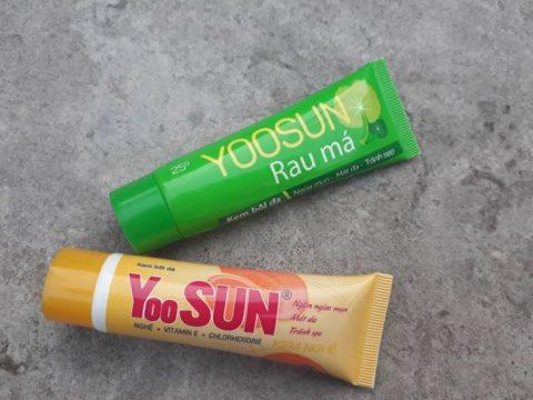 Hình ảnh các loại kem trị mụn Yoosun