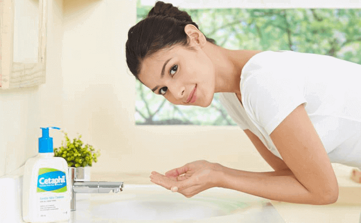 Cách dùng sữa rửa mặt cetaphil