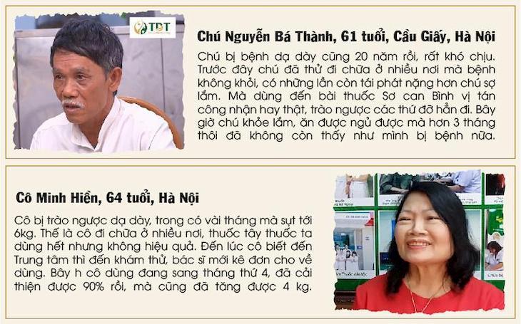 Chia sẻ từ người bệnh đã khỏi sau khi điều trị tại Trung tâm Thuốc dân tộc
