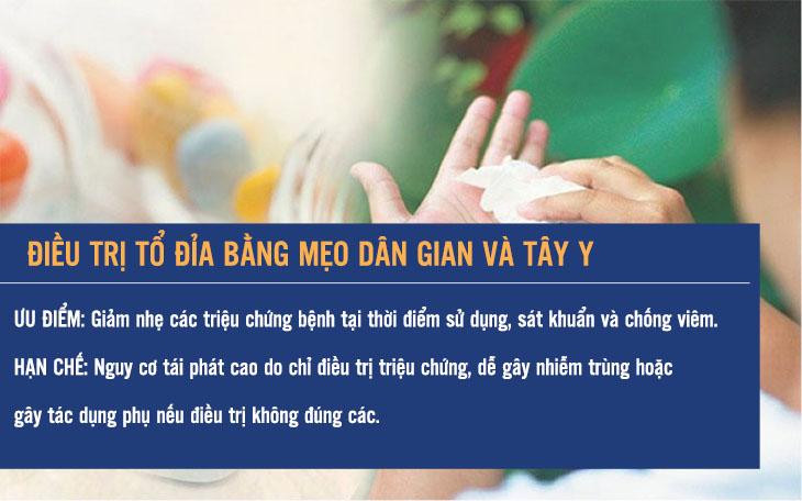 Những hạn chế khi điều trị tổ đỉa với Tây y hay mẹo dân gian