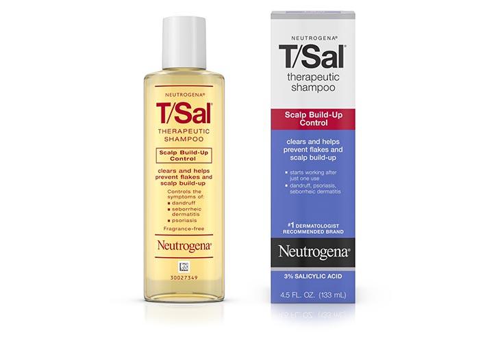 Neutrogena T/Sal Therapeutic Shampoo-Scalp Build được khuyên dùng chứa 3% Acid salicylic