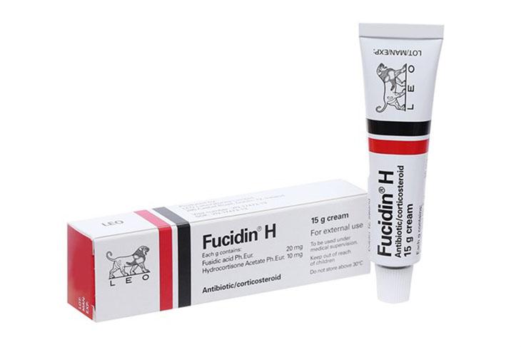 Fucidin là thuốc bôi trị viêm da tiết bã được dùng nhiều hiện nay