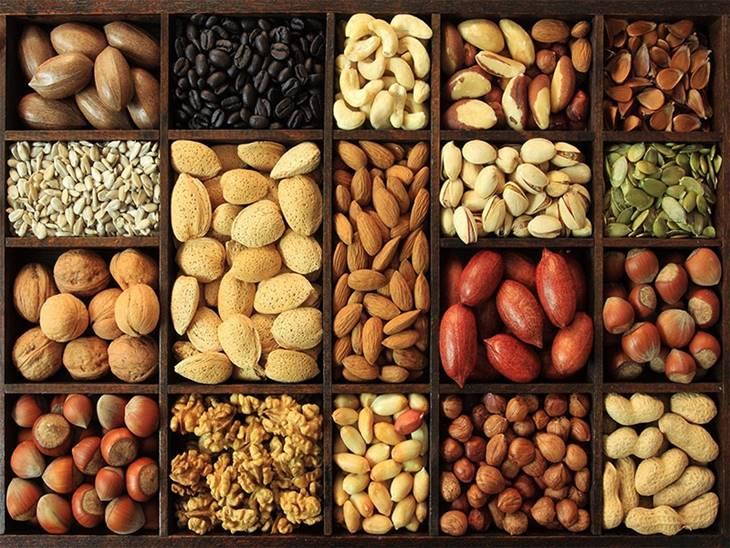 Các loại hạt khô cần thêm vào chế độ ăn trị mụn nội tiết
