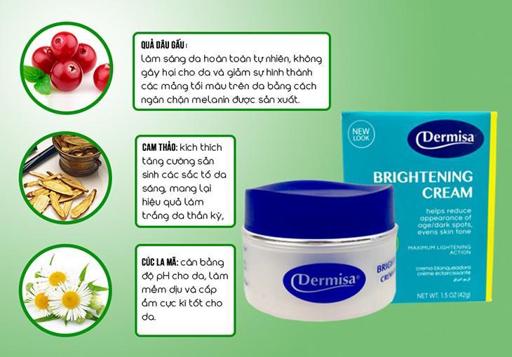 Dermisa chứa 100% thành phần tự nhiên