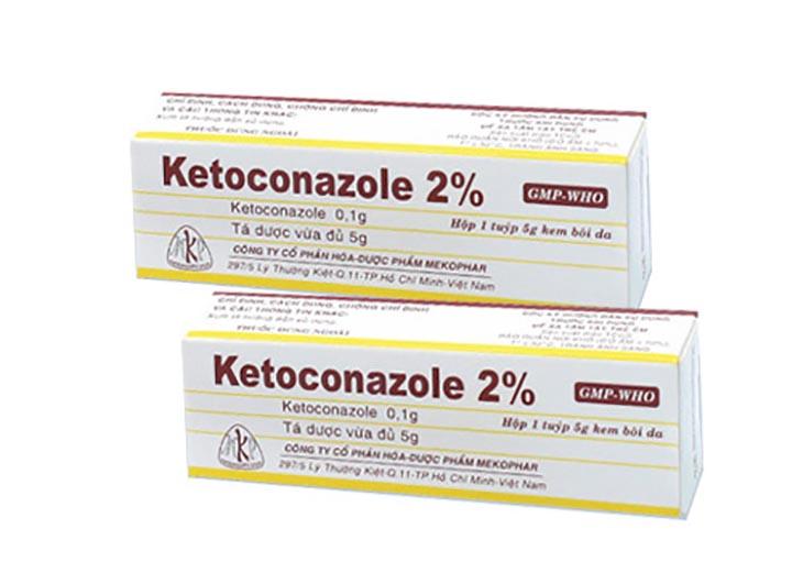 Ketoconazole là thuốc bôi dạng kem trị viêm da dầu tốt