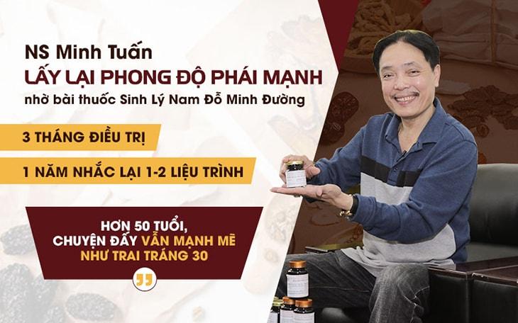 Nghệ sĩ Minh Tuấn tin tưởng khám, chữa bệnh sinh lý nam tại Đỗ Minh Đường