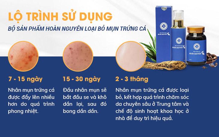 Liệu trình điều trị của BSP Trị Mụn trứng cá Hoàn Nguyên