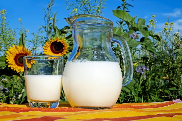 Sữa tươi kết hợp cùng bột yến mạch giúp trị mụn hữu hiệu