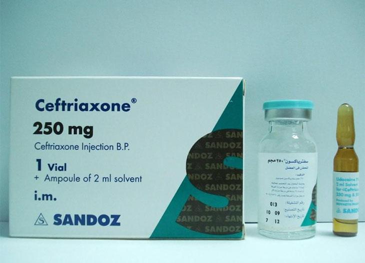 Ceftriaxone 250mg được chỉ định tiêm bắp liều duy nhất cho bệnh nhân nhiễm khuẩn nhẹ