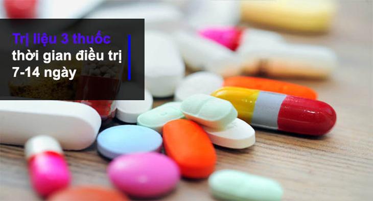 Phác đồ điều trị với liệu pháp 3 thuốc
