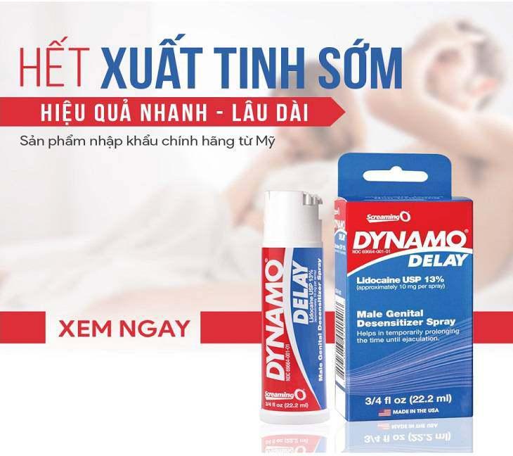 Thuốc chống xuất tinh sớm Dynamo của Mỹ đã được kiểm định độ an toàn