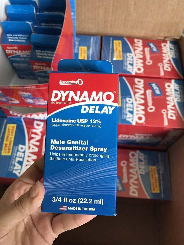 Thuốc chống xuất tinh sớm Dynamo, cần xem kỹ hướng dẫn sử dụng!