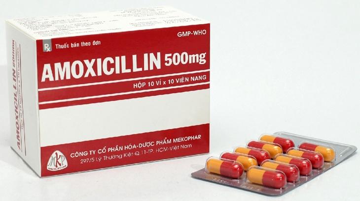 Kháng sinh Amoxicillin là loại thuốc trị vi khuẩn hp phổ biến nhất