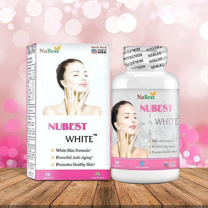 Thuốc uống trị tàn nhang Nubest White chứa thành phần dưỡng trắng da tự nhiên