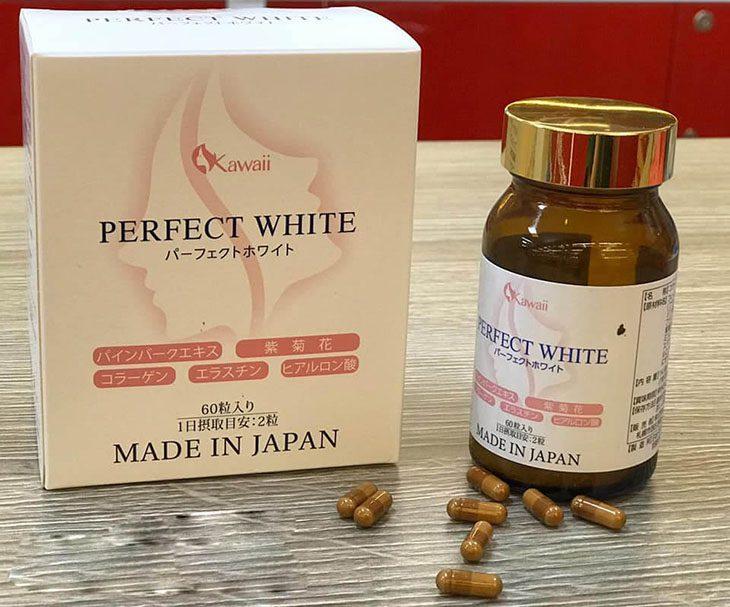Thuốc uống trị tàn nhang của Nhật - Perfect White đang được nhiều chị em tin dùng