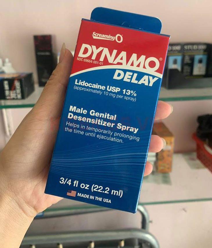 Dynamo Delay là thuốc xịt chống xuất tinh sớm hàng đầu của Mỹ