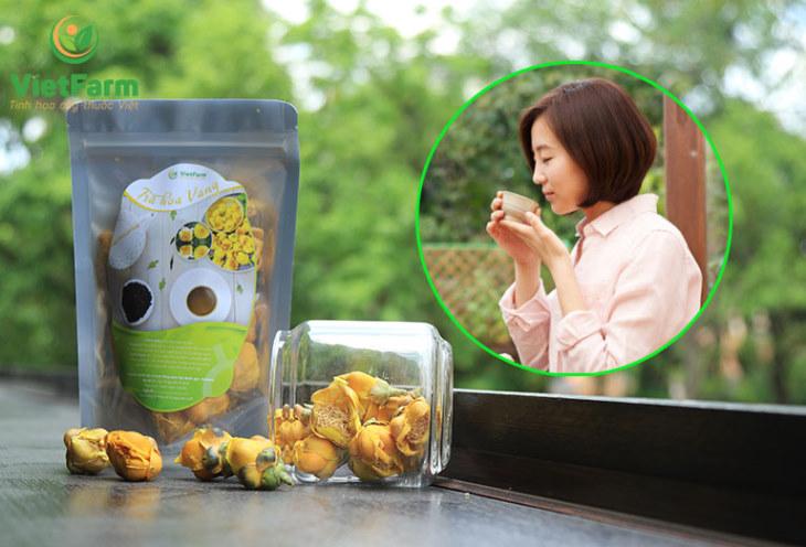 Trà hoa vàng Vietfarm luôn là lựa chọn của nhiều khách hàng