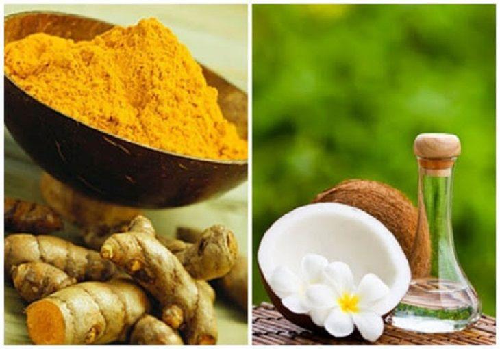 Cách trị nám bằng dầu dừa và bột nghệ có hiệu quả làm mờ các vết thâm sạm