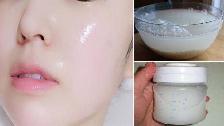 Trị nám bằng nước vo gạo và sữa tươi phù hợp với các cô nàng có làn da khô