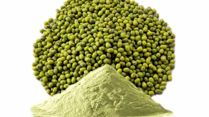Bột đậu xanh có công dụng trị mụn bọc hiệu quả