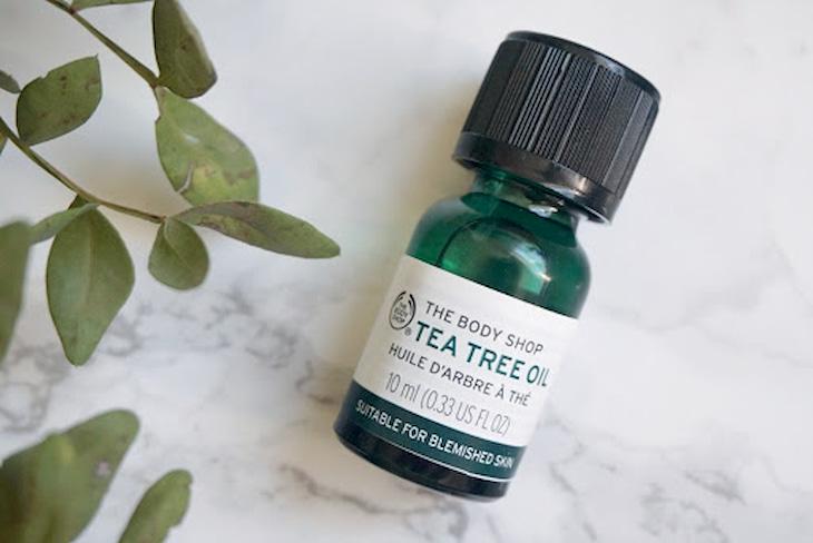 Serum trị mụn đầu đen và se khít lỗ chân lông Tea Tree Oil the Body Shop là một trong những sản phẩm trị mụn đầu đen tốt nhất hiện nay