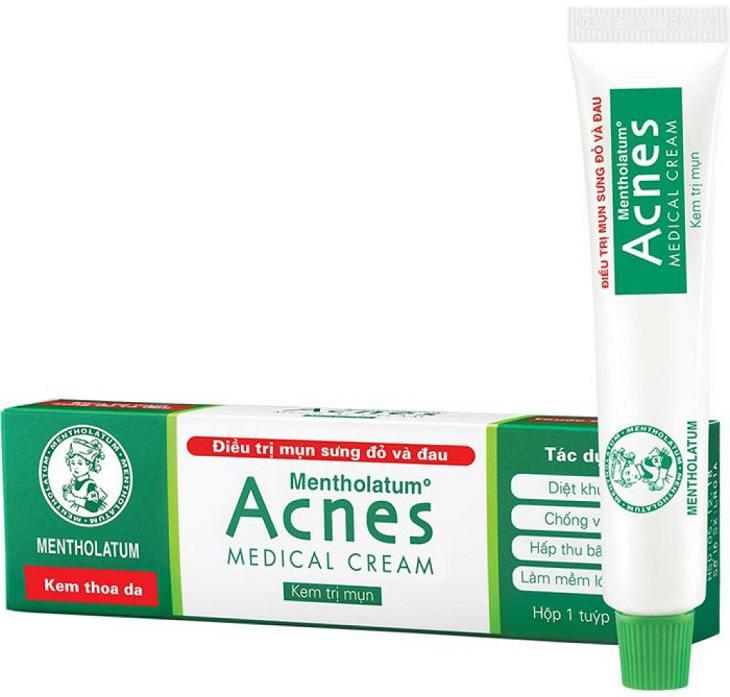 kem trị mụn acnes medical cream có tốt không