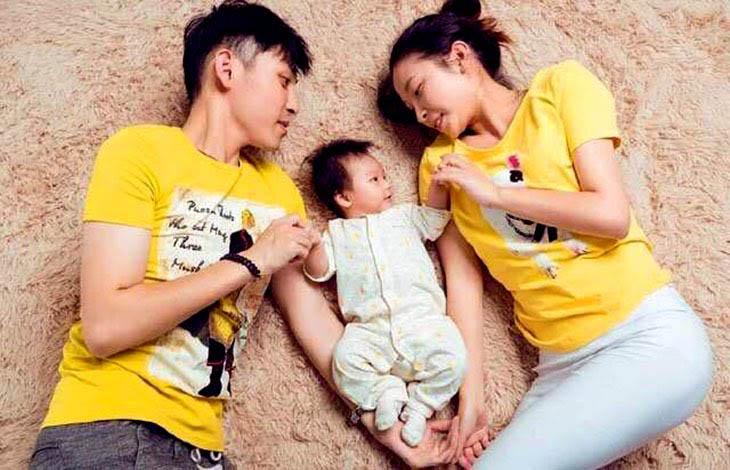 Ảnh gia đình chị Hoài Thương