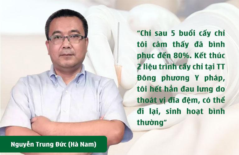 Phản hồi của bệnh nhân Nguyễn Đức Trung