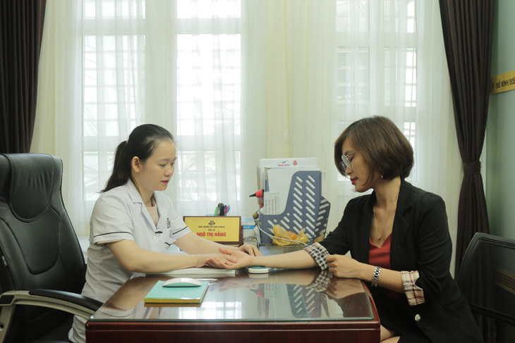 Chị Nhàn quay lại tái khám sau 1 tháng dùng bài thuốc Phụ Khang Đỗ Minh