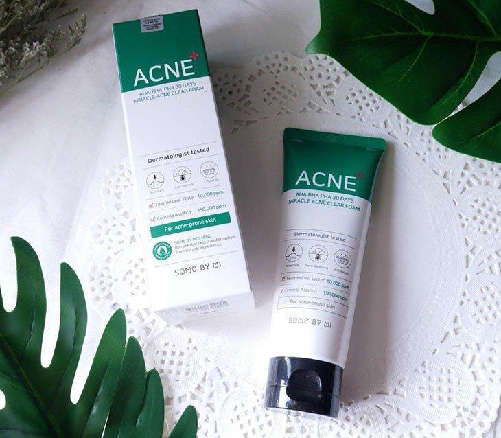 Các bài review trị mụn Some By Mi đánh giá cao sữa rửa mặt Miracle ACNE