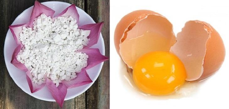 Lòng trắng trứng gà không chỉ dưỡng ẩm mà khi kết hợp với bột sắn dây tạo công thức trị nám hiệu quả