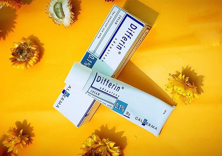 Kem trị mụn Differin chứa các thành phần giúp kháng viêm, tiêu mụn hiệu quả